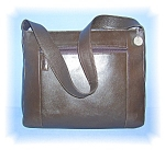 Click to view larger image of Tobacco Brown Leather SAK Bag (Image1)