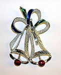 CHRISTMAS BELL PIN BY GERRY'S.........