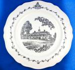 Click to view larger image of WEDGWOOD  FEDERAL CITY PLATES, Set of 4, Black Transfer (Image5)