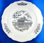 Click to view larger image of WEDGWOOD  FEDERAL CITY PLATES, Set of 4, Black Transfer (Image6)