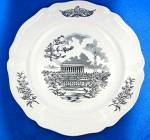 Click to view larger image of WEDGWOOD  FEDERAL CITY PLATES, Set of 4, Black Transfer (Image7)