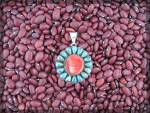 Click to view larger image of Sterling Silver Red Spiny Oyster Turquoise RAY YAZZIE P (Image4)