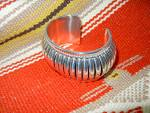 Click to view larger image of Native American Thomas Charley Sterling Silver Cuff (Image7)