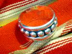 Taxco Mexico Sterling Silver Balls Clamper Bracelet