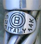 Click to view larger image of Bracelet  14K Sterling Silver Hinged ITALY (Image3)