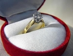 Ring  18K Diamond Solitaire 40pt English Hallmarks