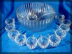 Click to view larger image of Heisey Punch Bowl with 11 glasses and ladel CRYSTOLITE (Image7)