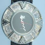 Click to view larger image of Surrisi Mountain Time Silver Plate Wristwatch (Image2)