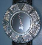Click to view larger image of Surrisi Mountain Time Silver Plate Wristwatch (Image4)