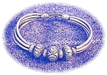 Click here to enlarge image and see more about item 1220200337: Sterling Silver Bead Bracelet. . . .