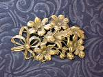 Click to view larger image of Sterling Silver Flower Spray Brooch Pin CINI (Image7)
