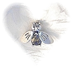 Sterling Silver & Peridot Bee Pin