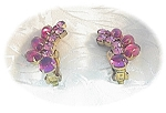 Fabulous 1 1/2 inch Pink WEISS Clip Earrings
