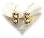 1/20 12K GF Genuine Pearl Clip Earrings