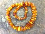 Click to view larger image of Necklace Golden Amber Nuggets Large 26 Inches (Image4)