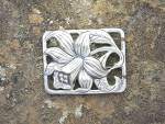 Click to view larger image of Brooch DANECRAFT Sterling Silver Lily anf Leaf US Pat  (Image4)