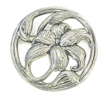 Click to view larger image of Beautiful Large Sterling Silver Flower Brooch (Image1)