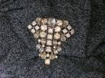 Click to view larger image of  Dress Clip Rhinestone Foil Back Antique Fur Clip (Image5)