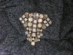 Click to view larger image of  Dress Clip Rhinestone Foil Back Antique Fur Clip (Image5)