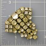 Click to view larger image of  Dress Clip Rhinestone Foil Back Antique Fur Clip (Image6)