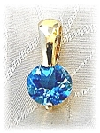 Pendant 14KGold & Heart Shaped Blue Topaz