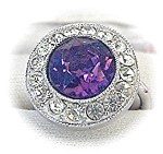 Sparkling SARAH COVENTRY  Amethyst Ring . . . . . . .