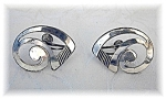 Click to view larger image of Sterling Silver BEAU Screwback Earrings (Image1)