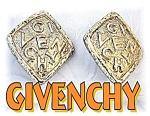 Large Goldtone GIVENCHY Clip Earrings