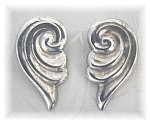 Click to view larger image of Sterling Silver Swirl Clip Earrings Mexico (Image1)