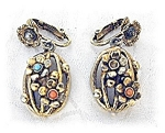 Beautiful Vintage Dangling Clip Earrings