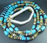 Click here to enlarge image and see more about item 12232017107: Navajo Turquoise Spiny Oyster Jasper Necklace S. Turpen
