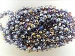 Click to view larger image of Necklace Crystal Lavender Faceted Beads Hand Knotted (Image1)