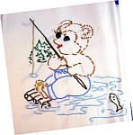 Click here to enlarge image and see more about item 1229200601: 5 HAND EMBROIDERED FLOUR SACK KITCHEN TOWELS