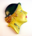 Click here to enlarge image and see more about item 1229200603: VINTAGE ART DECO SOUVENIER BUST WYALUSING STATE PARK