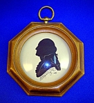 Click here to enlarge image and see more about item 1229200611: SILHOUETTE OF GEARGE WASHINGTON FRAMED