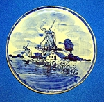Click to view larger image of COLLECTOR'S PLATE DELFT BLAUW MADE IN HOLLAND.... (Image1)