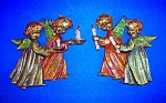 VINTAGE PAIR BRASS ANGELS WITH CANDELS WALL DECOR.....