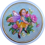 Click here to enlarge image and see more about item 1229200617: ANGEL FAIRY COLLECTOR PLATE WITH FLOWERS.....