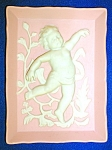 BISQUE PORCELAIN ANDREA CHERUB PLAQUE .............