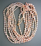 Spiny Oyster Heishi 5 Strand Necklace santo Domingo