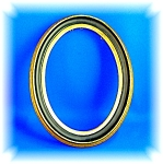 OVAL PICTURE FRAME MADE IN FINLAND - WOOD....