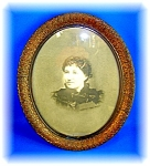 Click here to enlarge image and see more about item 1230200607: ANTIQUE PICTURE OVAL FRAME ....