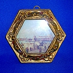 Click here to enlarge image and see more about item 1230200609: PALACE OF THE DOGE PRINT IN FRAME....