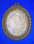 Click here to enlarge image and see more about item 1230200611: Picture Frame Oval Gold Tone 60s