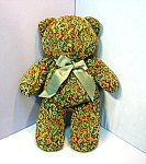 Click to view larger image of Hand crafted Fabric 18 Inch Teddy Bear (Image1)