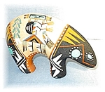 Click here to enlarge image and see more about item 1231200435: Navajo Sand Painted Bear USA 8 1/2 Inches