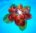 Lucite/Plastic Flower Decoration 12 Inch
