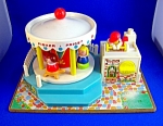 VINTAGE FISHER PRICE MERRY GO ROUND 1972 .  . . .
