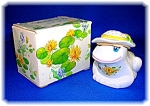Click here to enlarge image and see more about item 1231200619: AVON FLIRTATIOUS FROG CERAMIC POMANDER IN BOX  1980 . .