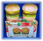 Click here to enlarge image and see more about item 1231200620: SALT AND PEPPER HAMBURGERS - FINE CERAMIC HAND CRAFTED